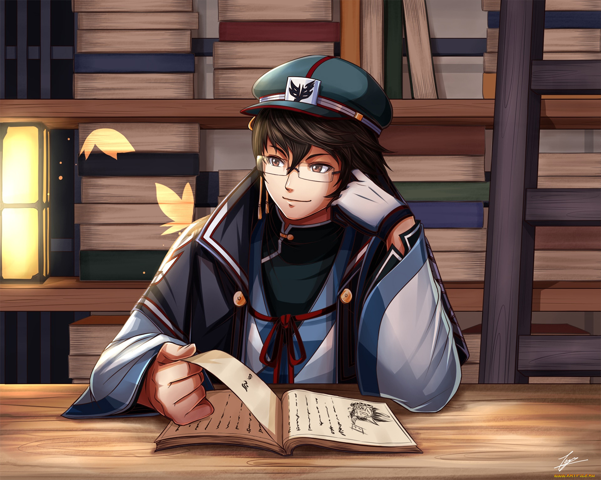 Картинки аниме писатель